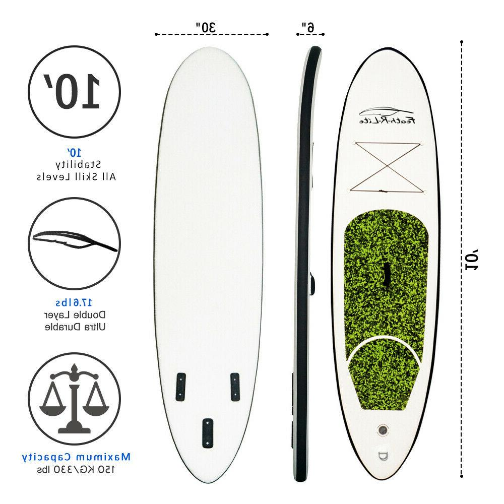 """FunWater Inflatable Stand Up Paddle Board 6"""" w/complete"""