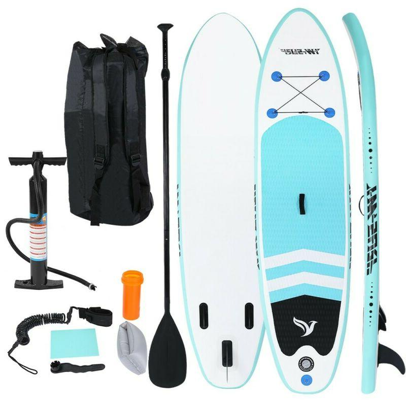 Inflatable Paddle Board Stand Up 10' SUP Boards Blue Surfboa