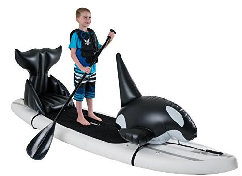 Stand Toy Orca seat Easily attaches Any SUP Paddle Removable Black and White, by