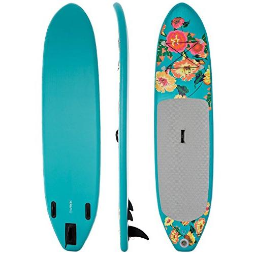 Supflex FLOWERY Edition Inflatable Stand Paddle Package - Board, HP, & Free