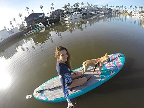 Supflex iSUP Edition Inflatable Stand Paddle Board, HP, & Free Leash