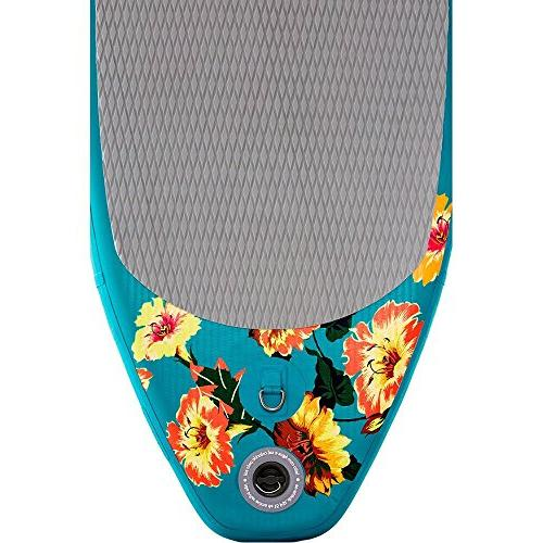Supflex iSUP FLOWERY Edition Paddle Board Package - Board, Paddle & Leash