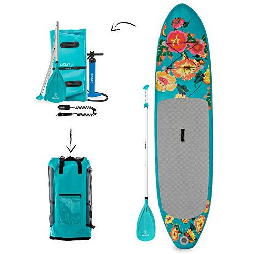 isup flowery inflatable stand paddle