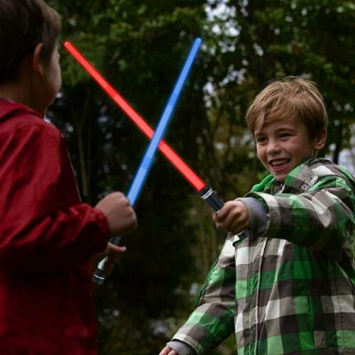 Kids Lightsaber Glow Sword 2 Sound Sabers 4 Colors