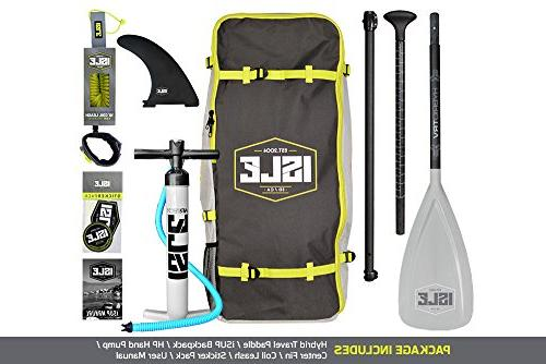 ISLE 10' Airtech Inflatable Paddle Board Package Includes Travel Carrying Bag,