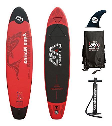 monster inflatable stand paddle board
