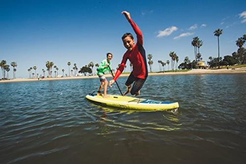 """Jimmy Styks Stand Paddle Board Green Long, 34"""" Wide, Thick All Around Click-N-Go Fin, Leash, Action High-Pressure"""
