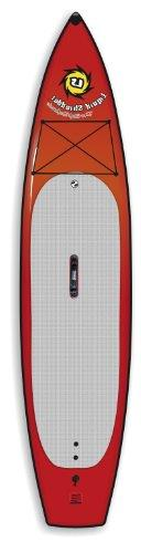 Liquid Shredder Paddleboard Soft Flatwater, Red, 12-Feet