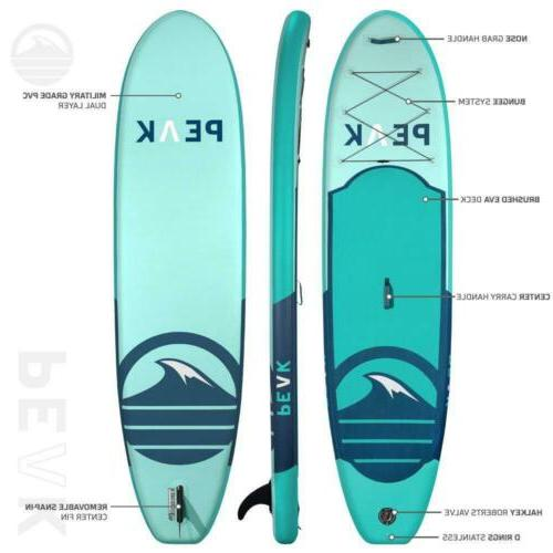 Peak Around Inflatable Stand Up Board iSUP and...