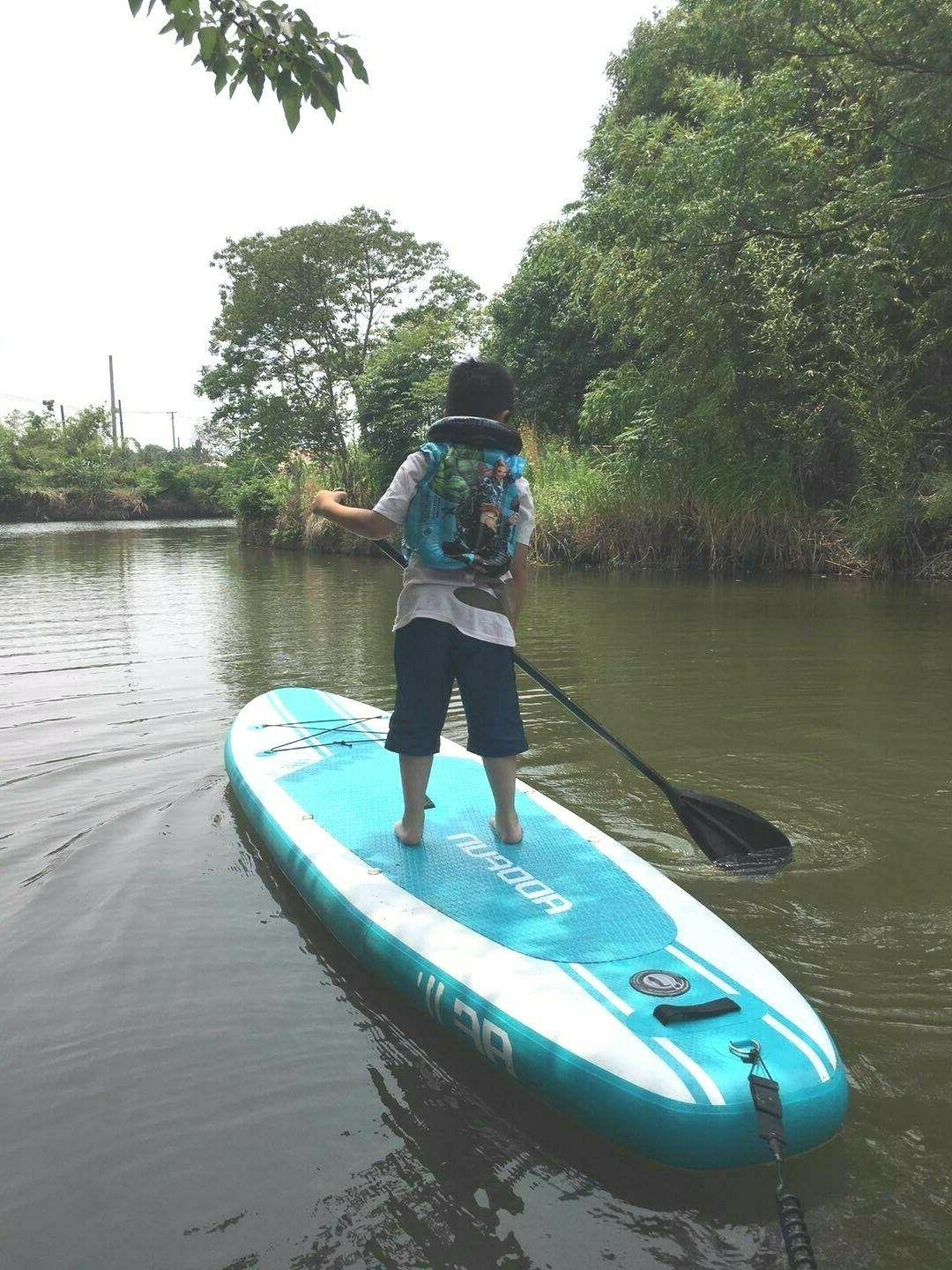 """Premium 10'6"""" Inflatable Paddle Board Thick w/Accessories"""