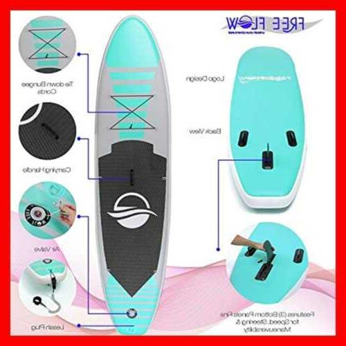"Premium Inflatable Stand Paddle Board 6"" Thick W SUP Accessories Carrying 0"