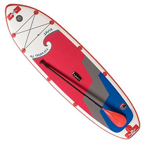 rival straight inflatable sup board
