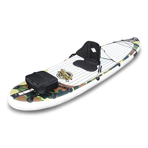 SBBC ||- Stand Up Board 10'6 ISUP Package Wide Rigid Dual Layer 6 Thick Inflatable Deck | Youth Adult