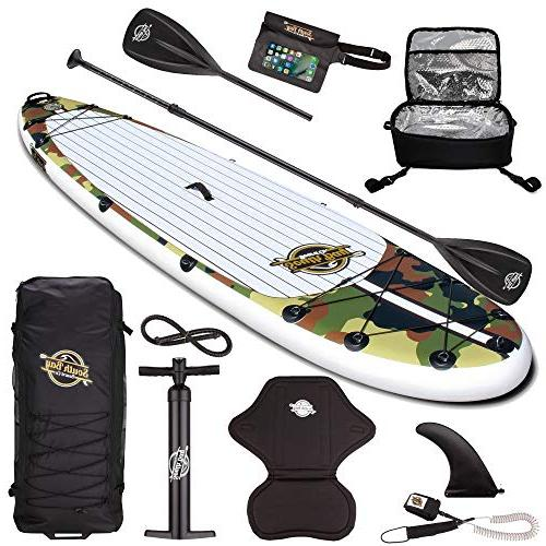 SBBC ||- Up || 10'6 Discover ISUP Package || Universal Wide Stance, Layer 6 Thick Inflatable Deck Youth Adult