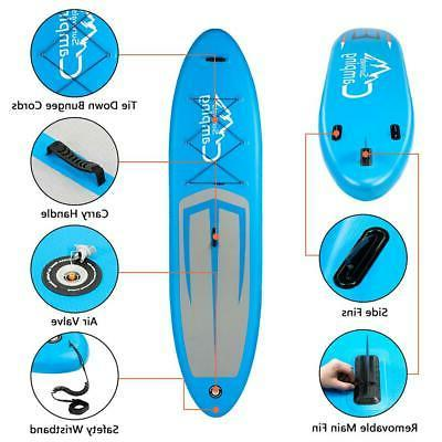 Stand Paddle 11' Inflatable Surf Water Sports Gray