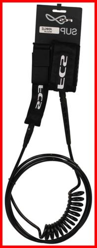 FCS Stand Up Paddle Board Regular Ankle Leash BLACK FREE SHI