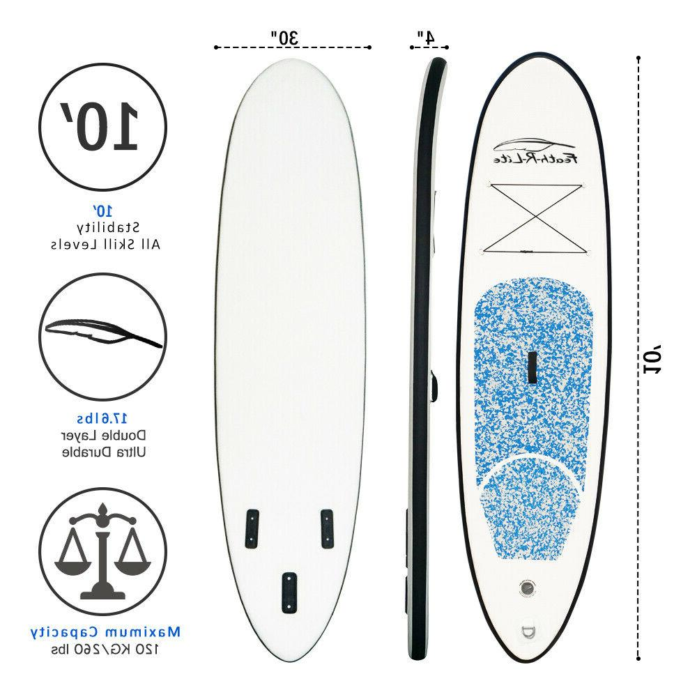 """SUP Stand Paddle Board 10'x30""""x4"""" Paddle,Backpack,leash,pumb"""