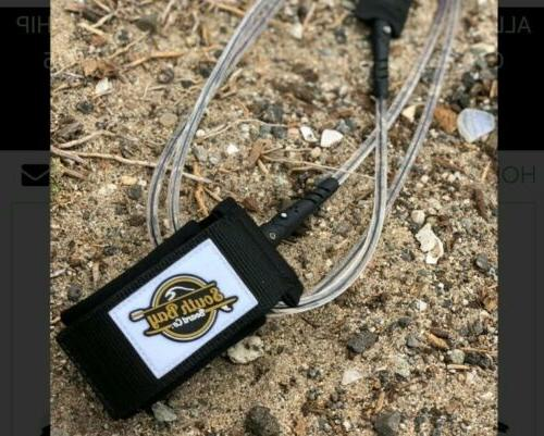 Gold Paddle Board Leash Black-Clear 7ft