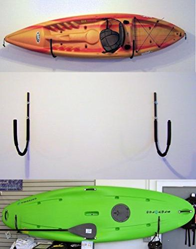 Universal Wall Mounted Kayak Fold-away w/Hook by Pack'em Racks