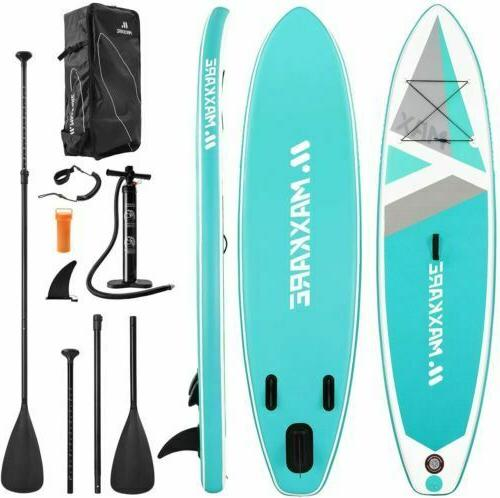 used 10ft SUP Paddle Stand Surfboard Surfing Paddleboard
