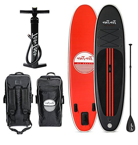Ten Weekender Inflatable Stand Paddle Bundle, Black/Red,
