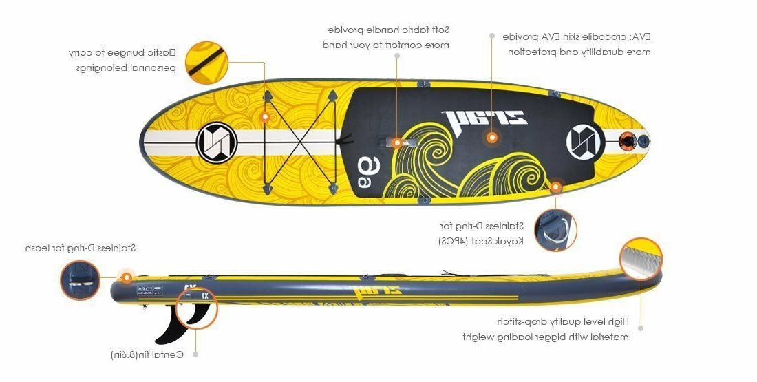 "Zray X1 Inflatable Paddle Board 9'9"" Pump/Paddle/Backpack"