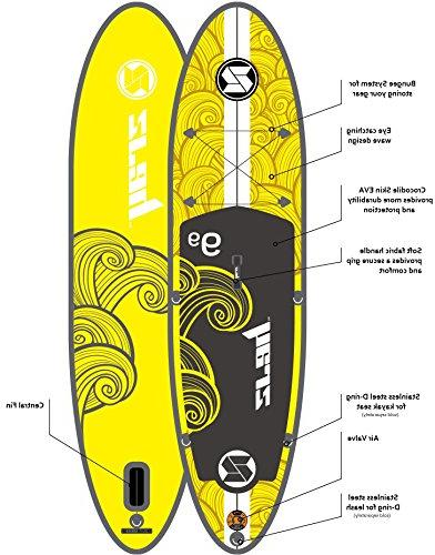 "Z-Ray 9'9"" Around SUP Stand Up Paddle Board Paddle Travel 6"" Thick"