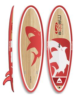Wappa Mako Eco Friendly Bamboo Paddle Board - 33 Inches Wide