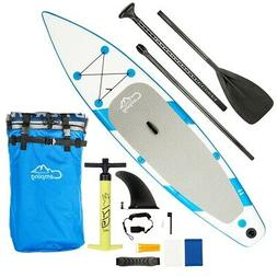 New 11' Inflatable Stand Up Paddle Board SUP 2 in 1 Kayak Pa