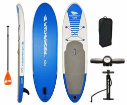 NEW Large Inflatable Paddle Board Stand Up Board Blue Lake O