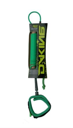 "New Dakine SUP Coiled Calf Leash 10'x 3/16"" Green Stand Up P"