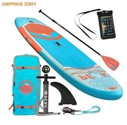 Paddle Board 10' Wave Kayak Fin Stand Up Yoga Fitness Inflat