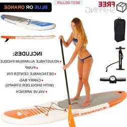 Paddle Board With Aluminum Paddle & Pump & Center Fin & Carr