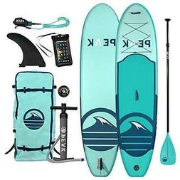 """Peak 10'6"""" All Around Inflatable Stand Up Paddle Board 