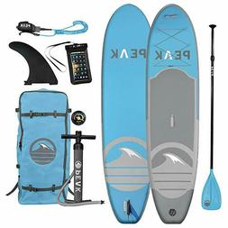 Peak All Around Inflatable Stand Up Paddle Board Package, 10