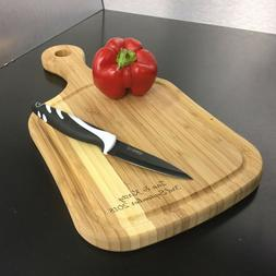 Personalised Bamboo Paddle Chopping Board Engraved New Home