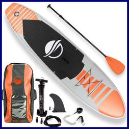 "Serenelife Premium Inflatable Stand Up Paddle Board 6"" Thick"