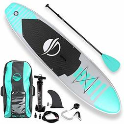 SereneLife Premium Inflatable Stand Up Paddle Board 6 Inches