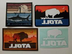 Set of 4 ATOLL Board Co sticker iSUP paddle boards Huntingto