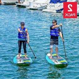 Stand Up Paddle Board Set of 2 9ft 6in Adjustable Paddles Le