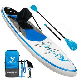 Freein Stand Up Paddleboard Inflatable SUP W/10' Long  Wit