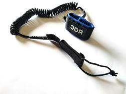 Stand Up SUP Paddle Board Leash Surf Board Roc Coiled Long A
