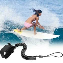 Surfboard Leash 10ft Coiled Stand UP Paddle Leashes Swivel B