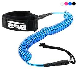 BPS 10' Ultralite Coiled SUP Leash  - Blue
