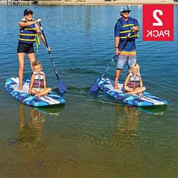 Wavestorm 9' 6  Stand Up Paddleboard Blue Camo Family Fun Wo