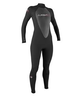 O'Neill Wetsuits Womens 3/2 mm Reactor Full Suit, Black, 6