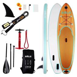 DAMA Wooden Nature  Inflatable Stand Up Paddle Board, Drop S