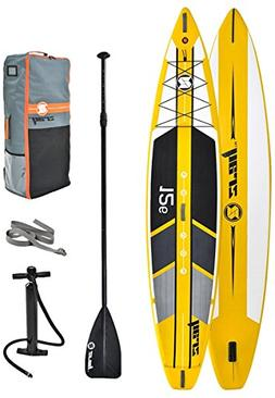"Z-Ray 12'6"" Racing SUP Stand Up Paddle Board Package w/Pump,"